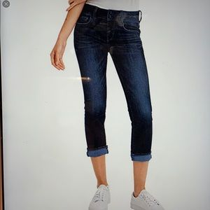 AEO artist cropped denim jeans stretch. 6